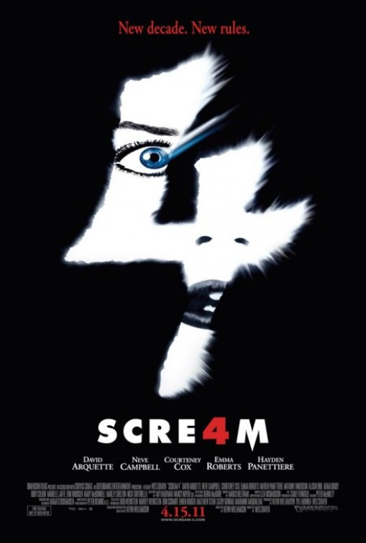 Emma Roberts Scream 4 one sheet movie poster kristen bell anna paquin rare promo