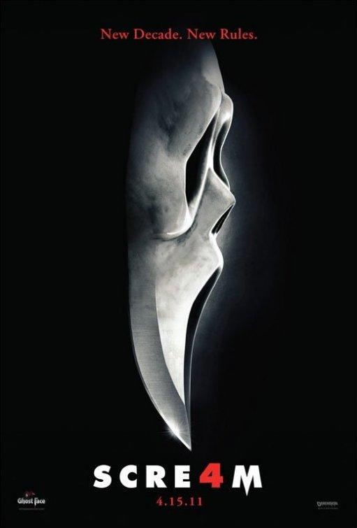 scream 4 promo courteney cox neve campbell david arquette kevin williamson promo rare hot sexy one sheet movie poster
