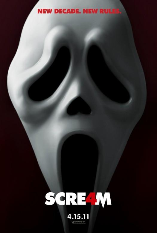 scream 4 four one sheet movie poster emma roberts neve campbell courtney cox david arquette rare promo