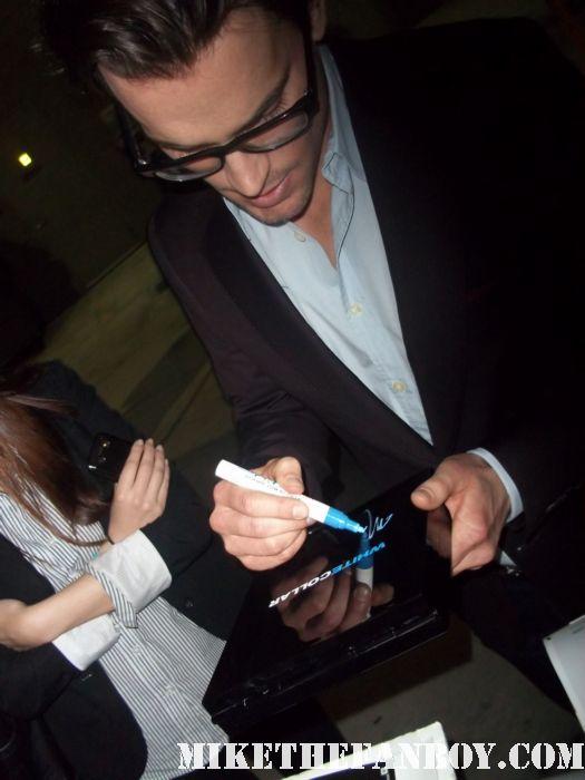 matt bomer mathew bomer white collar hand signed autograph promo game rare