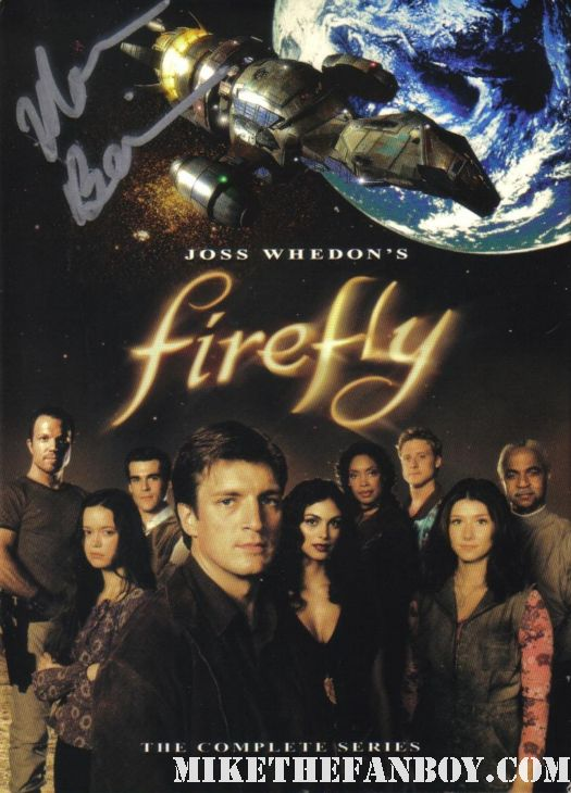 joss whedon firefly signed autograph dvd set Morena Baccarin  rare promo poster hot sexy