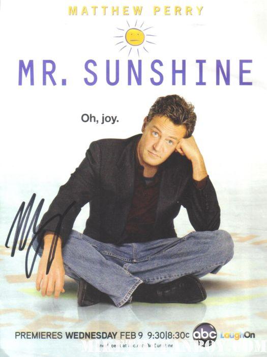 mathew perry hand signed autograph promo poster friends mr. sunshine promo magazine poster rare promo