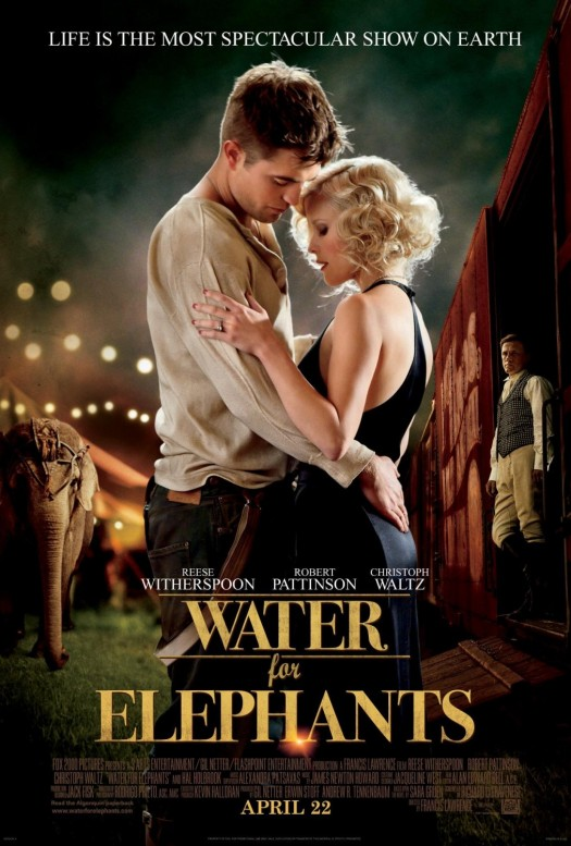 Robert Pattinson water for elephants one sheet movie poster shirtless rare sexy twilight new moon reese witherspoon hot sexy wet rare