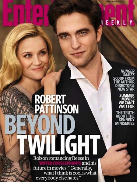 reese witherspoon rob pattinson water for elephants press still entertainment weekly cover magazine sexy hot rare legally blonde twilight new moon breaking dawn