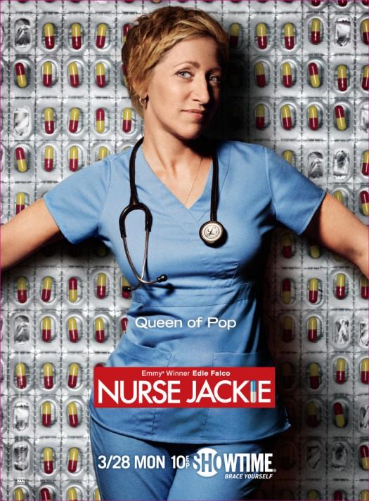 edie falco the queen of pop nurse jackie season 3 promo promotional poster rare showtime united states tara rare merritt weaver