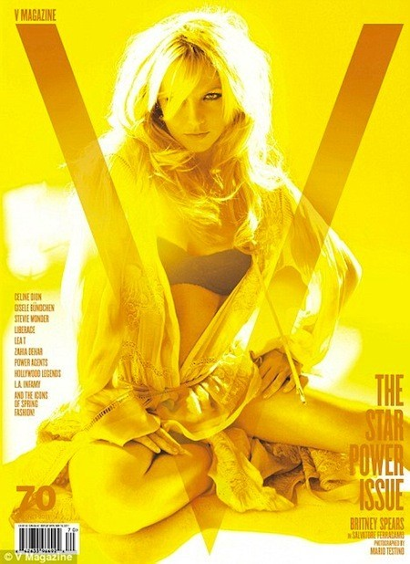 Britney spears hot sexy v magazine cover photo shoot rare circus femme fatale hold it against me