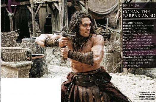 jason momoa shirtless conan the barbarian 2011 empire magazine rare hot sexy sword rare sandals epic remake rose mcgowan stephen lang
