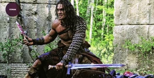 jason momoa conan the barbarian 2011 rare shirtless sexy hot remake epic rose mcgowan stargate series beard sword empire