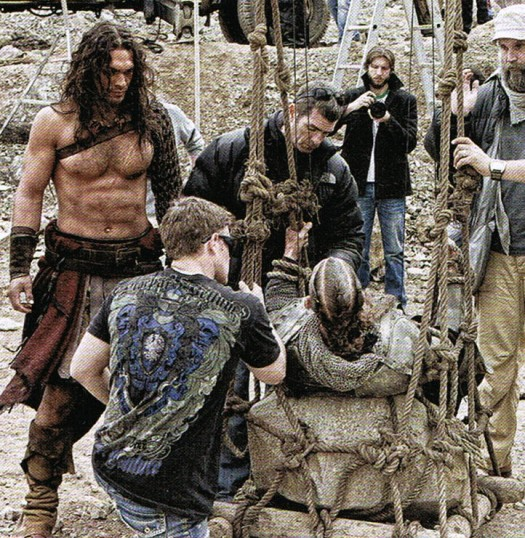 jason momoa shirtless sexy hot conan the barbarian 2011 empire magazine rare epic sword sandals fight behind the scenes awesome remake stargate atlantis rare signed autograph