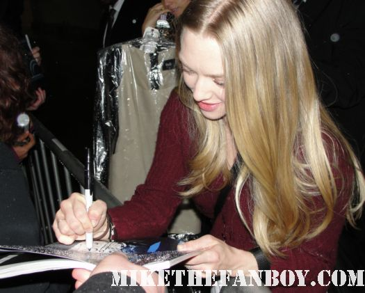amanda seyfried signed autograph rare promo poster photo mean girls hot sexy rare dear john letters to juliet
