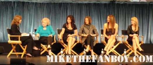 The Cast of Hot In Cleveland with Wendie Malick Betty White Valerie Bertinelli and Jane Leeves signed autograph rare paleyfest 2011 poster golden girls frasier just shoot me