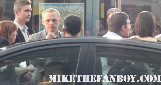 simon pegg and nick frost arriving at the paul premiere in los angeles rare signed autograph rare hot fuzz dvd