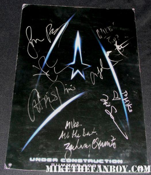 star trek 2009 jon cho simon pegg jj abrams chris pine zachary quinto promo mini poster rare leonard nimoy