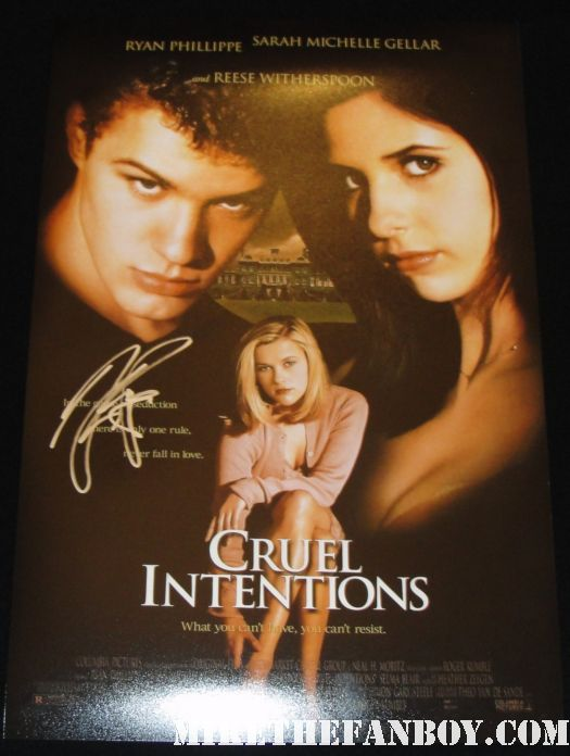 ryan phillippe signed autograph promo poster sarah michelle gellar buffy reese witherspoon hot sexy promo selma blair