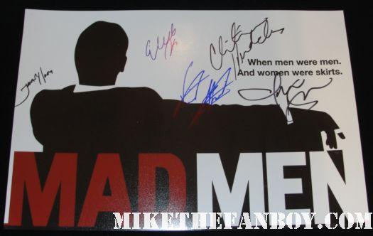 mad men cast signed promo poster rare logo jon hamm jared harris christina hendricks elizabeth moss rare AMC