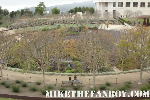 pinky and I at the botanical gardens at the getty center in los angeles museum rare greek ampitheatre rare promo