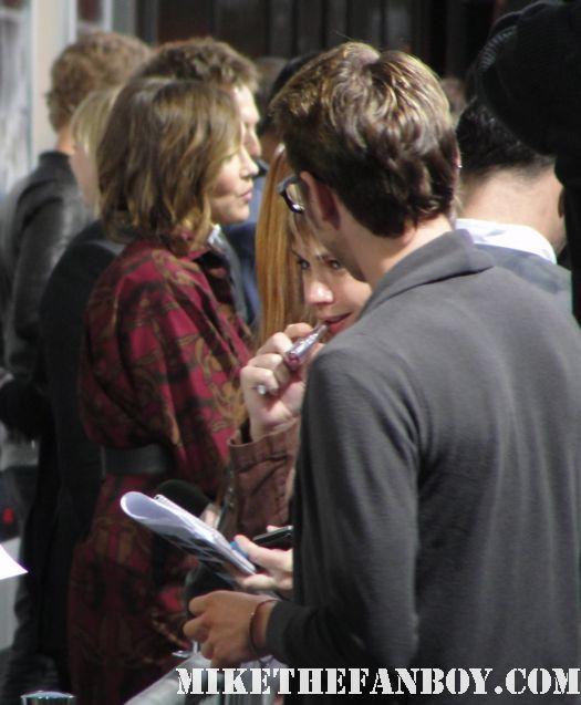 Vera Farmiga source code red carpet rare signed autograph source code world premiere Jake Gyllenhaal
