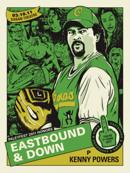 eastbound and down rare paleyfest 2011 limited edition danny mcbride james franco pineapple express signed autograph posters rare hot