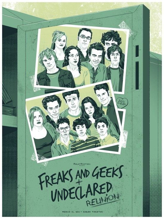 paleyfest freaks and geeks undeclared reunion limited edition posters james franco seth rogan busy phillips judd apatow jason segal rare hand signed