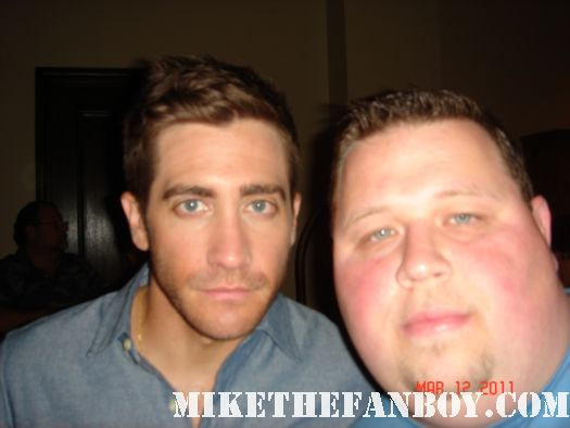 Jake Gyllenhaal source code premiere austin tx fan photo love and other drugs rare duncan jones signed autograph rare