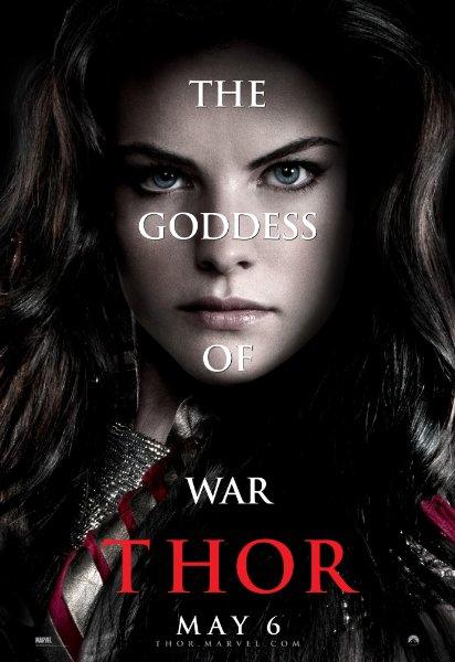 goddess of war thor promo individual promo mini poster rare sif Jaimie Alexander hot sexy rare