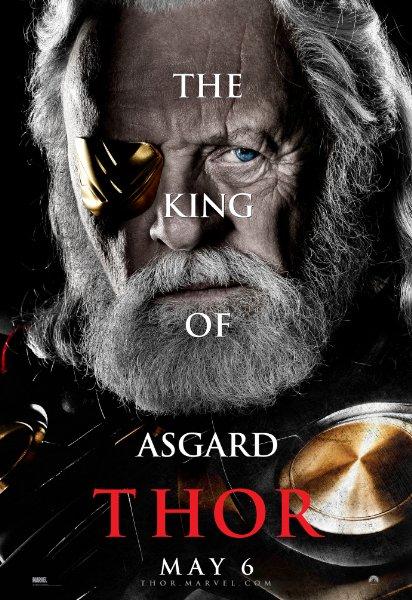 anthony hopkins rare promo individual promo mini poster thor odin asgard king marvel individual mini poster promo rare