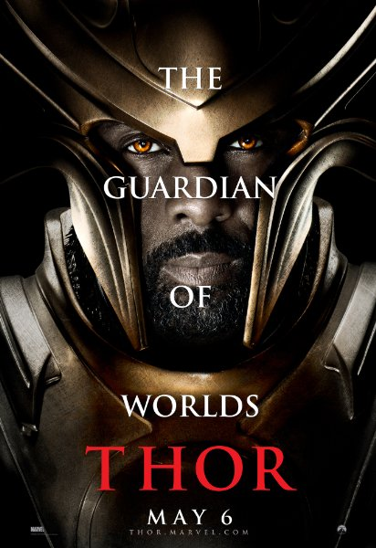 Idris Elba HEIMDALL thor promo individual promo mini poster promo one sheet thor hot rare guardian of worlds