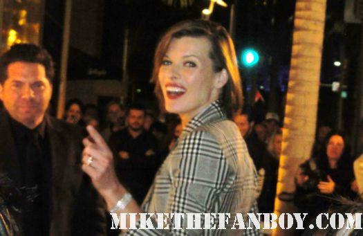 Milla Jovovich fifth element resident evil signed autograph rare sexy hot skin supermodel