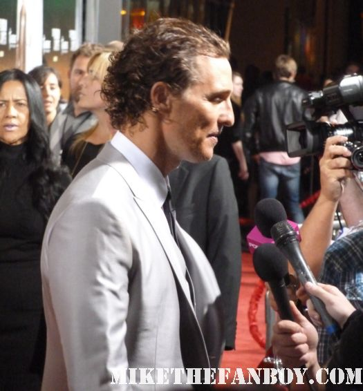 Matthew McConaughey sexy hot rare dazed and confused lincoln lawyer premiere muscle dazed and confused a time to kill rare signed autograph