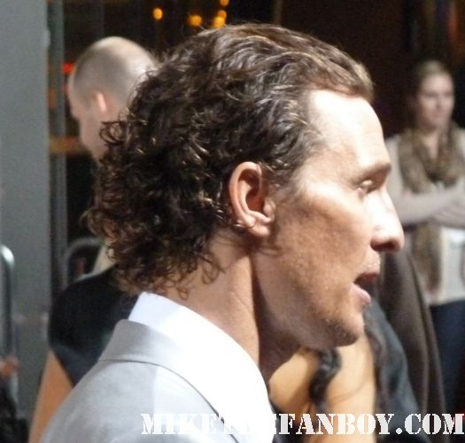 Matthew McConaughey sexy hot muscle rare beach boy lincoln lawyer premiere interview signed autograph fans workout