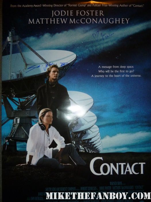 Matthew McConaughey signed autograph contact one sheet movie poster rare hand signed sexy hot