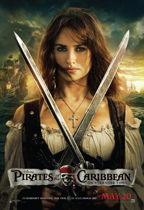 penelope cruz pirates of the caribbean on stranger tides one sheet movie poster