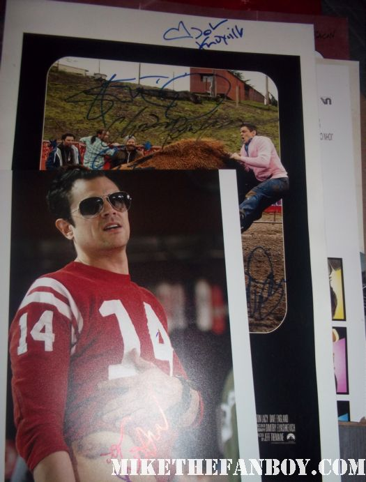 johnny knoxville rare signed autograph photo poster jackass 3d rare one sheet poster football the ringer promo nice awesome