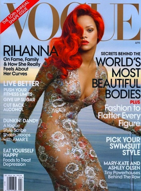 rihanna annie leibovitz april 2011 vogue magazine cover shoot little mermaid rare hot sexy cover shoot magazine disturbia rated x