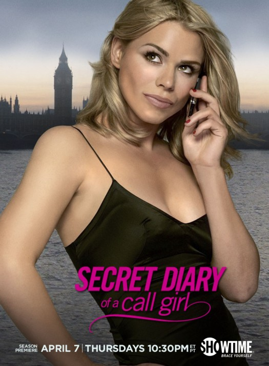 secret diary of a call girl billie piper season 4 season 3 cover art promo poster rare showtime promo  sexy hot