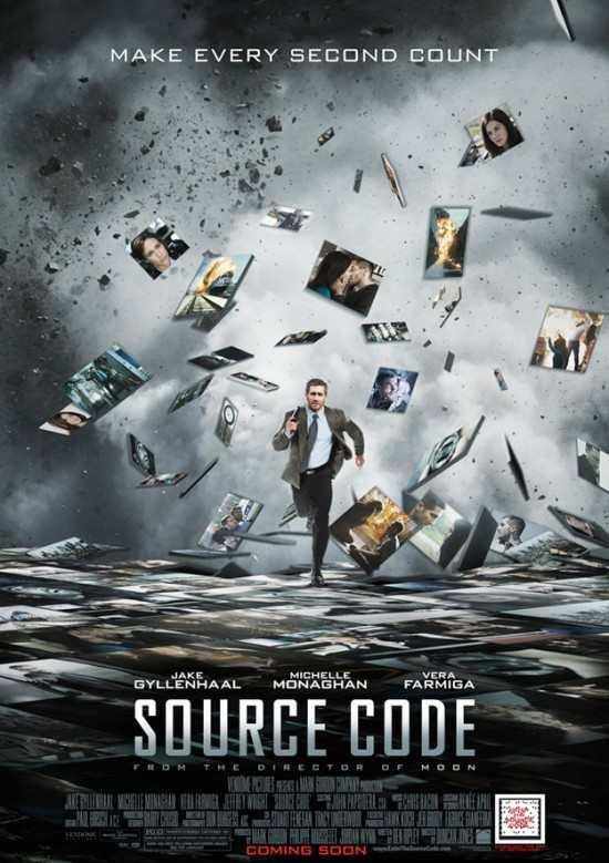 source code Jake Gyllenhaal sexy hot rare one sheet movie poser vera farmiga kinkos hot sweat running promo michelle monaghan cool