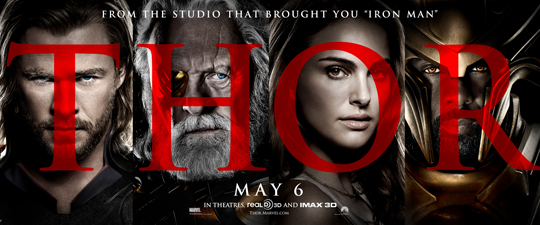 Chris Hemsworth natalie portman sexy hot thor one sheet movie poster idris elba anthony hopkins loki rare may 6 god of thunder rare hot promo kat dennings