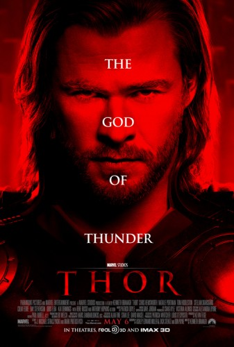 thor chris hemsworth hot sexy one sheet rare promo movie poster God of thunder liam marvel avengers joss whedon