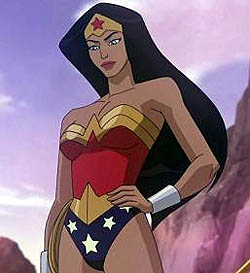 wonder woman 2009 animated series golden lasso tiara keri russell voice promo rare