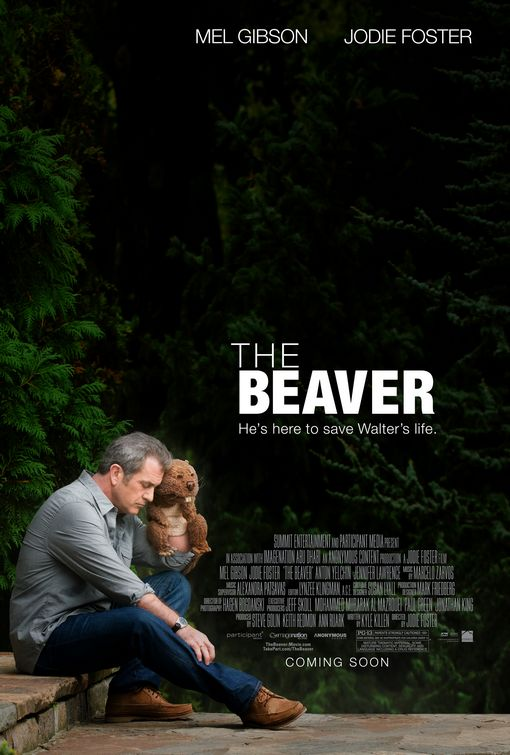 mel gibson jodie foster the beaver one sheet movie poster sugar tits anton yelchin jennifer lawerence rare signed autograph puppet release delay reshoot rare