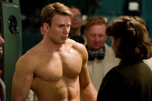 chris evans shirtless sexy hot captain america the first avenger muscle workout rare hot abs bicep