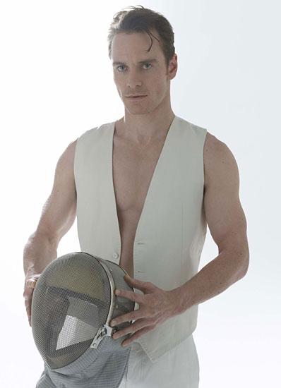 michael fassbender shirtless sexy hot photo shoot rare w magazine promo x men first class rare