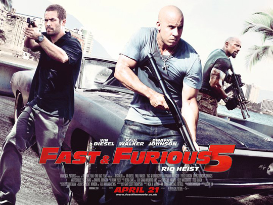 fast five fast and furious five 5 paul walker sexy hot rare uk quad poster vin diesel dwayne johnson one sheet rare