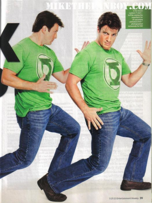Nathan fillon in entertainment weekly green lantern shirt magazine cover castle serenity firefly desperate housewives waitress sexy hot shirt green lantern shirtless amazing