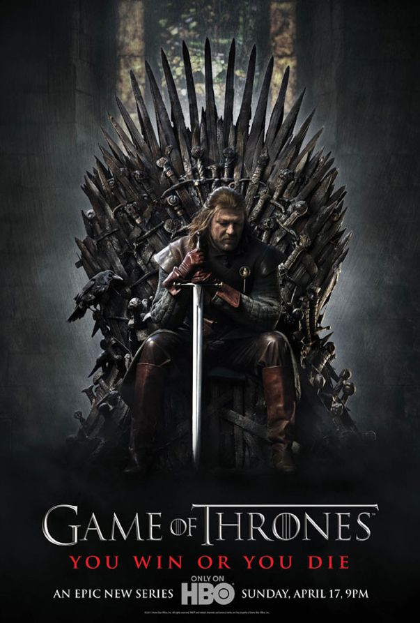 game of thrones sean bean lord of the rings promo poster rare april 17 2011 epic sexy hot rare the two towers return of the king