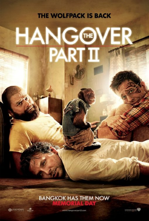 the hangover part 2 one sheet movie poster rare teaser monkey bradley cooper sexy hot  Zach Galifianakis due date ed helms rare part II
