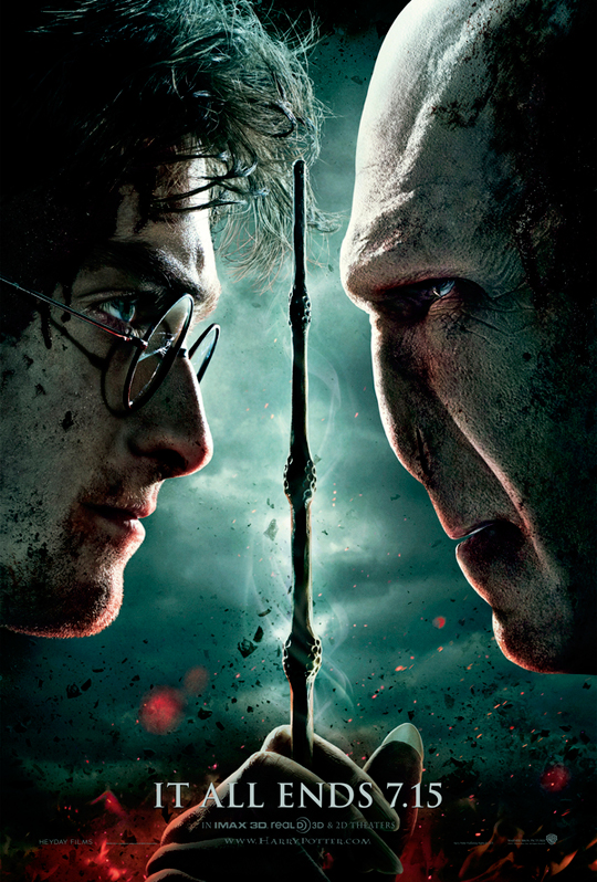 harry potter and the deathly hallows part 2 movie teaser poster one sheet rare daniel radcliff ralph fiennes voldemort emma watson rare signed autograph premiere final battle