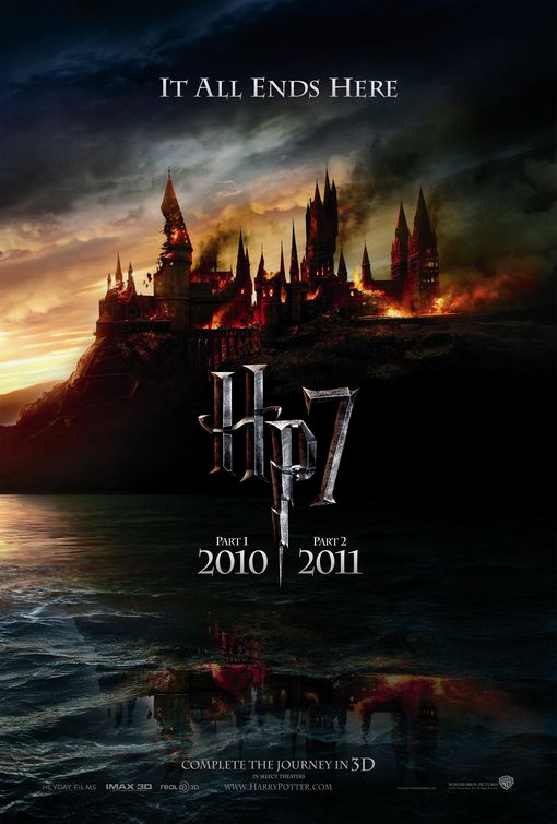 harry potter and the deathly hallows part 1 part 2 hogwarts one sheet movie poster burned emma watson rare rupert grint maggie smith hot bellatrix lestrange helena bonham carter rare individual mini promo poster hot sexy evil awesome