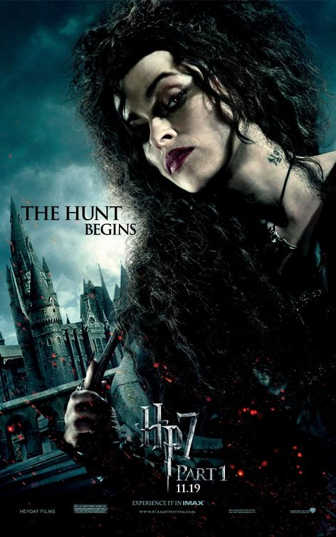 harry potter and the deathly hallows part 1 bellatrix lestrange helena bonham carter rare individual mini promo poster hot sexy evil awesome fight club tim burton
