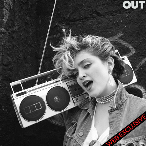 madonna out magazine richard corman vintage 1980s april 2011 photo shoot photoshoot hot sexy borderline into the groove cover shoot cd vinyl